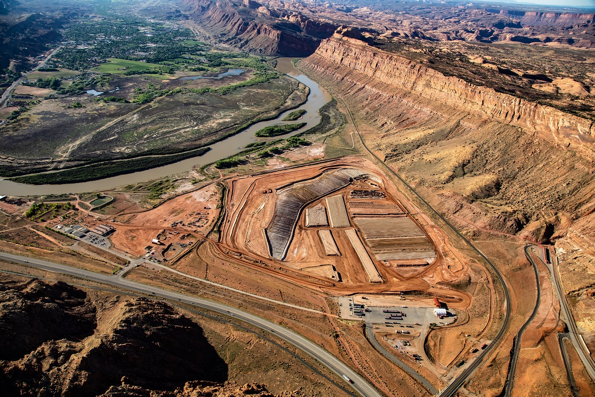 Aerial View of Moab, Utah, UMTRA Project Area